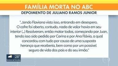 Uma sexta pessoa é suspeita de participar da morte de uma família no ABC paulista - Segundo as investigações, esse suspeito ajudou na fuga, logo depois que o carro da família foi incendiado com os corpos no porta-malas.