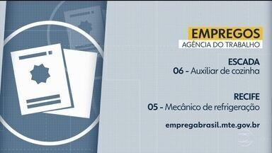 Confira as vagas de emprego disponíveis na Agência do Trabalho - No Recife, há oportunidade para mecânicos de refrigeração.