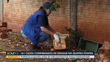Prefeitura suspende aulas em Quatro Pontes por causa da dengue - Foram 161 casos confirmados na cidade.