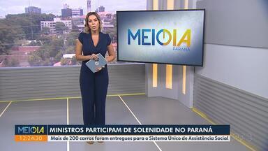 Ministros participam de solenidade no Paraná - Mais de 200 carros foram entregues para o Sistema Único de Assistência Social.