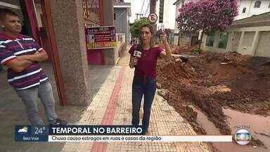 Chuva causa estragos em ruas e casas do Barreiro - Foram 105mm em menos de 12 horas.