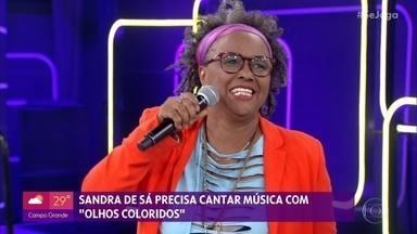 Sandra de Sá participa do 'Roleta de Sucessos' - Cantora se diverte relembrando seus grandes hits