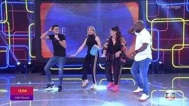 'Rei do Piseiro' ensina coreografia no Se Joga - Ele explica a origem da dança