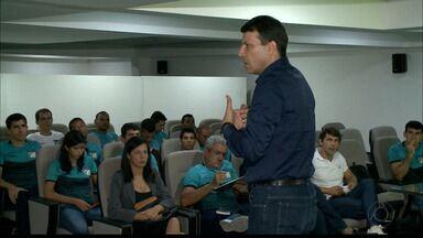 Leonardo Gaciba ministra palestra em João Pessoa para os árbitros paraibanos - Chefe de arbitragem da CBF esteve reunido na capital paraibana com os profissionais da área