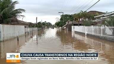 Chuva causa estragos em cidades da região Norte - Chuva causa estragos em cidades da região Norte