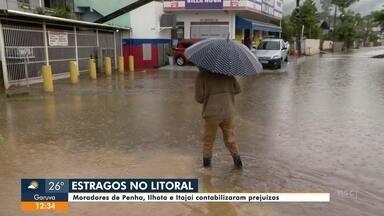 Chuva causa transtornos em Ilhota e Itajaí - Chuva causa transtornos em Ilhota e Itajaí