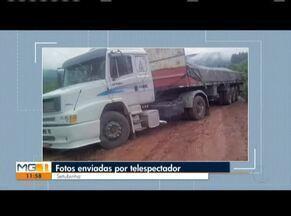 VC no MG: Confira os vídeos enviados pelos telespectadores - Fotos enviadas da estrada que liga a cidade de Setubinha a Capelinha, no Alto Jequitinhonha.