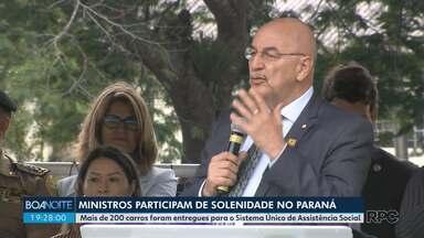 Ministros no Paraná - Mais de 200 carros foram entregues para o Sistema Único de Assistência Social