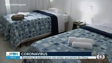 Brasileiros que vão ficar em quarentena em Anápolis já estão a caminho do Brasil - Hotel passou por vistoria.