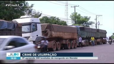 PF apreende 500 toneladas de manganês extraídas ilegamente no sudeste do Pará - Sete pessoas foram presas.
