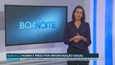 Homem de 50 anos é preso por importunação sexual dentro de ônibus em Ponta Grossa - O crime teria acontecido em maio do ano passado e a vítima é uma jovem de 19 anos.