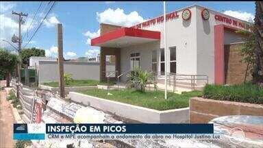 Hospital de Picos passa por inspeção do CRM e MPE - Hospital de icos passa por inspeção