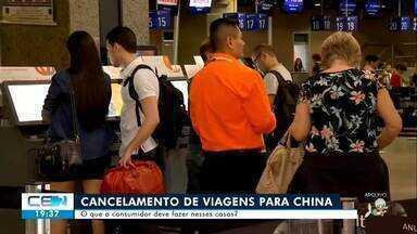 O que o consumidor deve fazer em caso de viagem para a China cancelada? - Confira mais notícias em g1.globo.com/ce