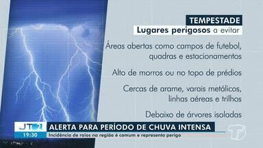 Meteorologista alerta para incidência de raios na região de Santarém - Período é de chuvas intensas na região.