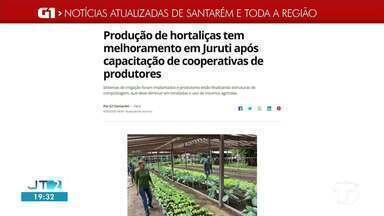 Produção de hortaliças em Juruti é destaque no G1 Santarém e região - Acesse essa e outras notícias pelo celular, tablet ou computador.