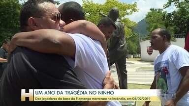 Incêndio do Ninho do Urubu faz um ano - Na tragédia, morreram dez jogadores da base do Flamengo. Esta semana, a Polícia Civil do Rio entregou ao Ministério Público Estadual a conclusão do inquérito que aponta as responsabilidades pelo incêndio.
