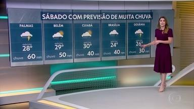 Previsão é de chuva em MG neste sábado - Veja a previsão completa para todo o Brasil.