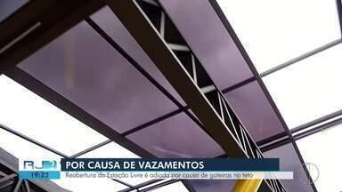 Reabertura da Estação Livre, no Centro de Nova Friburgo, é adiada por problemas no teto - O prazo para reabertura do local era nesta sexta-feira (7).