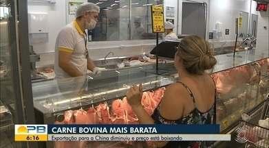 Exportação de carne para a China diminui e preço está baixando - Confira os detalhes com a repórter Sílvia Torres.
