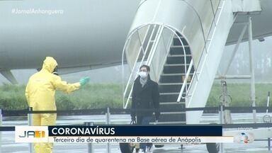 Ministério da Defesa disse que repatriados não apresentaram sintomas em Anápolis - Equipe médica acompanha repatriados.