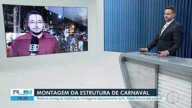 Prefeitura de Nova Friburgo começa os trabalhos de montagem para o Carnaval - Além disso, estacionamento na Av. Alberto Braune está proibido.