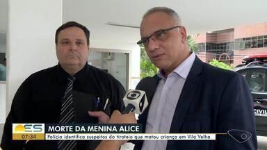 Polícia identifica suspeitos do tiroteio que matou criança em Vila Velha, ES - A informação foi confirmada pelo Secretário de Segurança Roberto Sá.