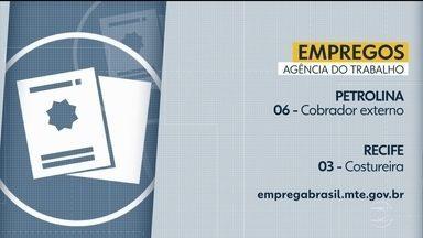 Confira as vagas de emprego disponíveis nas Agências do Trabalho - Há oportunidades em Igarassu, Cabo de Santo Agostinho, Petrolina e Recife.