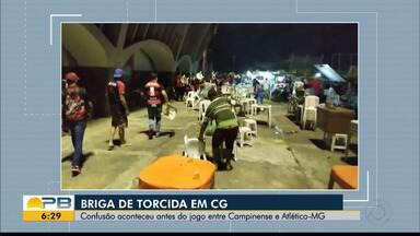 Torcedores de Campinense e Atlético-MG geram tumulto antes de jogo pela Copa do Brasil - Área externa do Estádio Amigão, em Campina Grande, tem princípio de confusão momentos antes da partida entre Raposa e Galo, pela primeira fase da Copa do Brasil.