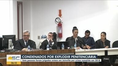 Sete pessoas são condenadas por explodir muro de penitenciária em 2018 em Joinville - Sete pessoas são condenadas por explodir muro de penitenciária em 2018 em Joinville