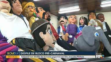 Desfile de bloco pré-carnaval - Amanhã tem desfile de bonecos gigantes em São José dos Pinhais.