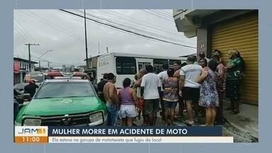 Mulher morre após cair de moto no bairro Mutirão, em Manaus - Vítima estava na garupa de um mototaxista.