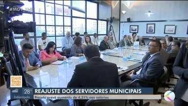 Projeto que aumenta em 4,31% salário dos servidores é aprovado na Câmara de Uberlândia - Aprovação foi em segunda discussão e agora volta para a sanção do Executivo. Aumento serve para os servidores municipais com exceção dos vereadores.