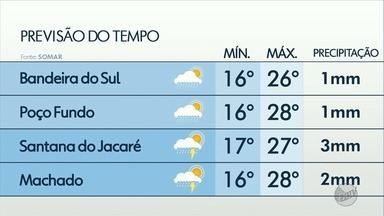 Confira a previsão do tempo para esta sexta-feira (14) no Sul de Minas - Confira a previsão do tempo para esta sexta-feira (14) no Sul de Minas