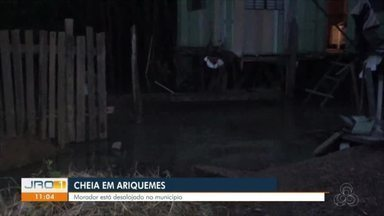 Defesa civil de Ariquemes em alerta - Nível do Rio Jamari sobe e moradores são orientados a sair de casa.