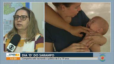 Dia 'D' contra o Sarampo acontece na Paraíba - Campanha acontece em todo o estado.