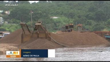 Semas proíbe extração de terra e seixo por areeiros irregulares no Rio Xingu, em Altamira - Semas proíbe extração de terra e seixo por areeiros irregulares no Rio Xingu, em Altamira