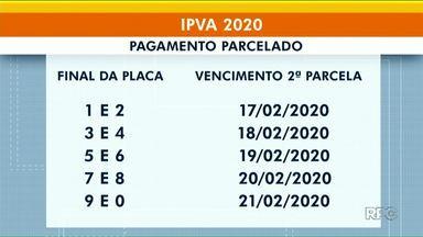 Segunda parcela do IPVA vence na segunda-feira - O prazo vale para proprietários de veículos com placa fina 1 e 2.