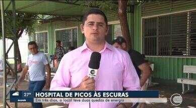 Hospital de Picos passa por problemas elétricos e tem quedas de energia - Hospital de Picos passa por problemas elétricos e tem quedas de energia