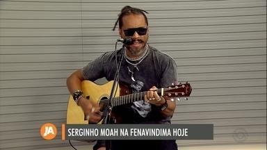 Serginho Moah é uma das atrações da Fenavindima - O show acontece nesta sexta-feira, a partir das 22h30.