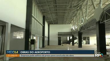 Obra do aeroporto de Cascavel ganha novo aditivo de prazo - Previsão é de que obra fica pronta até o segundo semestre.