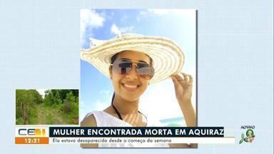 Mulher encontrada morta em matagal em Aquiraz - Saiba mais no g1.com.br/ce