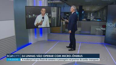 34 linhas de Curitiba vão funcionar com micro-ônibus nos finais de semana - Passageiros precisam ter cartão-transporte.