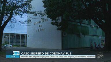 Ministério da Saúde monitora caso suspeito do novo coronavírus em Campinas - De acordo com a Secretaria da Saúde, trata-se de um adulto de 33 anos que está em isolamento domiciliar e tem histórico de viagem a Xangai, na China.