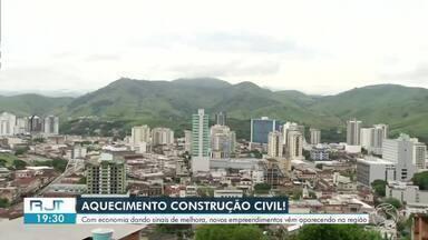 Setor da construção civil apresenta melhora no Sul do Rio - Com economia dando bons sinais, novos empreendimentos vêm aparecendo na região.