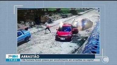 Três homens são presos por envolvimento em arrastões em Teresina - Três homens são presos por envolvimento em arrastões em Teresina
