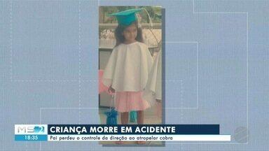 Acidente de trânsito mata criança em Corumbá - Uma criança morreu depois do pai perder o controle da direção ao atropelar uma cobra