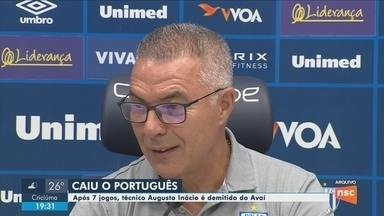 Técnico Augusto Inácio é demitido pelo Avaí - Técnico Augusto Inácio é demitido pelo Avaí