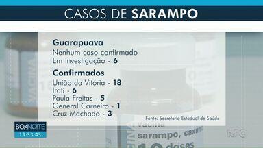 Guarapuava terá dia D contra o Sarampo neste sábado (15) - Três postos de saúde da cidade abrirão neste sábado, das 8h às 18h.