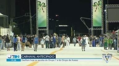 Escolas do Grupo 1 e do Grupo de Acesso desfilam em Santos - Escolas de samba desfilam na passarela Dráusio da Cruz nesta sexta-feira (14).