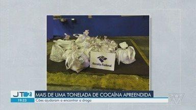 Mais de uma tonelada de cocaína é apreendida no Porto de Santos - Cães ajudaram a encontrar a droga.